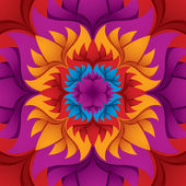 Colorful flower kaleidoscope background. — Stock Vector