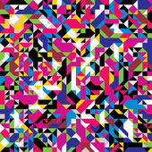Seamless geometric pattern with colourful elements. — Vettoriale Stock
