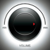 Big black volume knob. — Stockvector