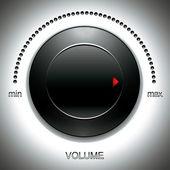 Bouton de grand volume noir. — Vecteur