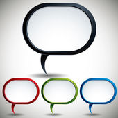 Abstract modern style speech bubble. — 图库矢量图片