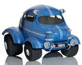 Mavi araba. — Stok fotoğraf