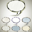 Abstract sketch style speech bubbles 1. - Stockvektor