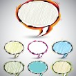 Abstract sketch style speech bubbles 2. — Stock Vector