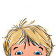 Surprised cute little boy. - Stock Vector