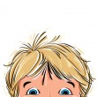 Surprised cute little boy. — Imagen vectorial