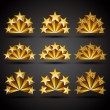 Five stars classic style icons set. — Stockvector