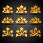 5 つ星のクラシックなスタイルのアイコンを設定します。 — ストックベクタ