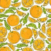 апельсины бесшовный фон. — Cтоковый вектор