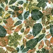 цветочный фон с разными листьями. — Стоковое фото