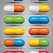 Medical pills set. — Stock Vector #12850558