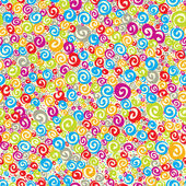 Colorful curls seamless pattern. — Stock Vector