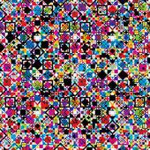 Sem costura padrão geométrico com elementos coloridos. — Vetor de Stock