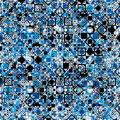 Seamless geometric pattern with blue elements. — Stockvektor
