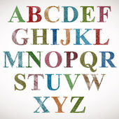 Alfabeto stile vintage. — Vettoriale Stock
