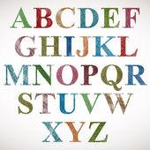 Vintage stil alfabetet. — Stockvektor