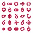 Abstract creative business icons vector collection, abstract sty — Vector de stock