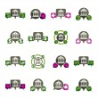 Bank and money theme vector unusual icons set, financial theme v — Stock Vector #49102659