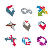Abstract creative business icons vector collection, abstract sty — Stock Vector