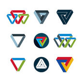 Abstract unusual vector icons set, creative symbols collection,  — Stockvector