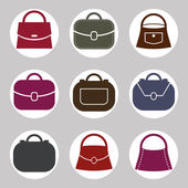 Bag vector icons set, symbols collection. — Stock Vector
