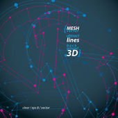 Dimensional elegant mesh loop sign, technical renew symbol isola — Stock Vector