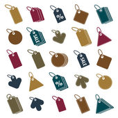 Tag icons isolated on white background vector set, retail theme  — Stok Vektör