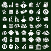Money icons vector set, finance theme simplistic symbols vector  — Stock Vector