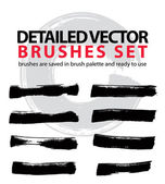 Set of highly detailed vector brush strokes, illustrator object  — Stok Vektör
