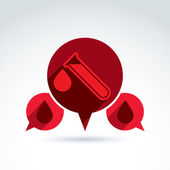 Donor blood and Circulatory system icon, vector conceptual styli — Vetorial Stock