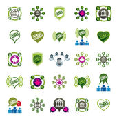 Bank and money theme vector unusual icons set, financial theme v — Vecteur