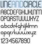 Poster thin circle black font and numbers. — Stock Vector