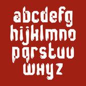 Handwritten white vector lowercase letters, stylish letters set  — Vetorial Stock