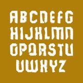 Vector stylish brush lowercase letters, handwritten font, sans s — Vetorial Stock