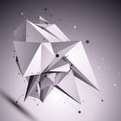 3D modern cybernetic abstract background, origami futuristic tem — Stok Vektör