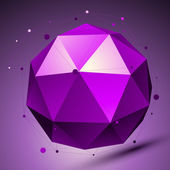 Purple 3D modern stylish abstract background, origami futuristic — Stock Vector