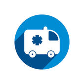 Ambulance car vector icon isolated. — Stock Vector