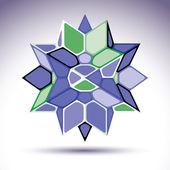 3d precious stone, indigo geometric stylish figure. Vector tran — Stock Vector