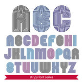Light rounded geometric font created from lines. Vector decorati — Stockvector