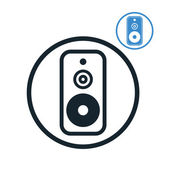 Audio speaker icon isolated. — Stock Vector