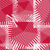 Abstract red lines seamless pattern. Vector psychedelic wallpape — Vecteur