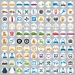 100 car and transport icons. — Stock Vector
