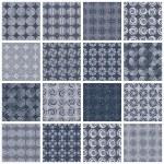 Retro style tiles seamless patterns set 2. — ストックベクタ