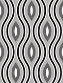 Lined 3d cubes seamless pattern, black and white vector background. — Stok Vektör