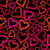 Hearts seamless pattern, Love theme seamless background, vector, — Stock Vector