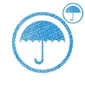 Umbrella vector simple single color icon isolated on white backg — Stock Vector