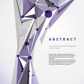 Vector abstract geometric background, modern style illustration. — Wektor stockowy