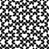 Black and white geometric seamless pattern, vector contrast sphe — Vector de stock