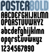 Poster black bold extensive font and numbers. — Stock Vector