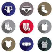 Male underwear vector icon set. — Stock Vector